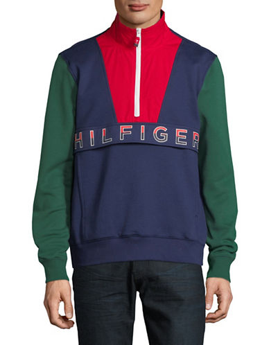 Tommy Hilfiger Newport Mock Neck Sweater-GREEN-X-Large
