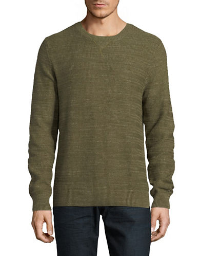 Tommy Hilfiger Toledo Cotton Sweater-GREEN-Small