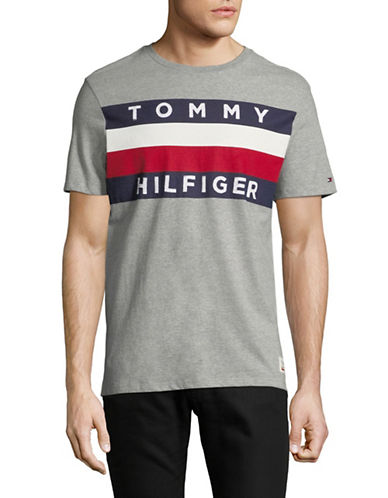 Tommy Hilfiger Upstate Flag Graphic T-Shirt-GREY-XX-Large 89896148_GREY_XX-Large