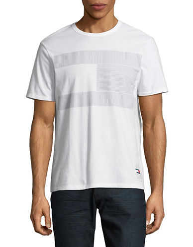 Tommy Hilfiger Textured Graphic T-Shirt-WHITE-Small 89896102_WHITE_Small