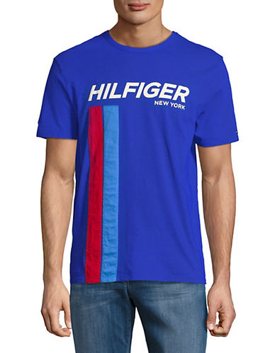 Tommy Hilfiger Wagner Cotton T-Shirt-BLUE-Small 89993052_BLUE_Small