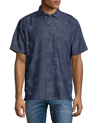 Tommy Bahama South Beach Scenic Sport Shirt-INDIGO BLUE-Large