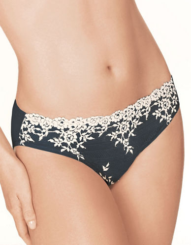 Wacoal Embrace Lace Bikini Panty-BLACK-Medium