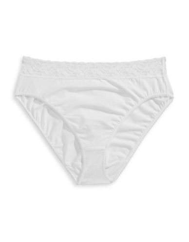 Wacoal Hi-Cut Lace Briefs-WHITE-Medium