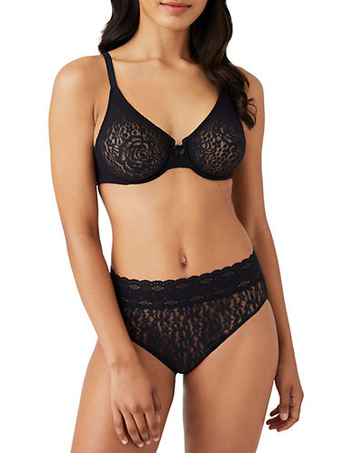 Wacoal Halo Molded Underwire-BLACK-34DD