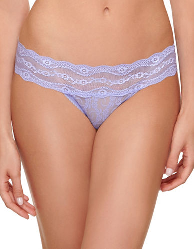B. TemptD By Wacoal Lace Kiss Thong-VERY VIOLET-Medium