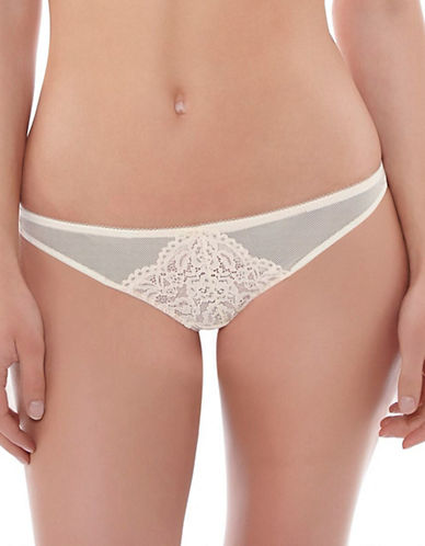 B. TemptD By Wacoal Ciao Bella Mesh Designed Thong-WHITE-Large