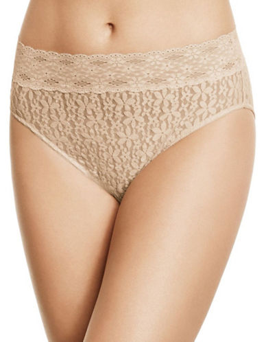 Wacoal Halo Lace Hi-Cut Briefs-NUDE-Large