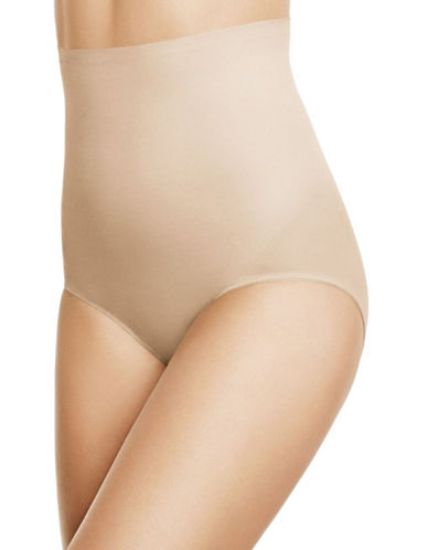 Wacoal Zoned 4 Shape High-Waisted Briefs-SAND-Small