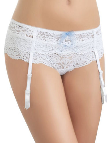 B. TemptD By Wacoal Ciao Bella Garter Belt-WHITE-Small/Medium