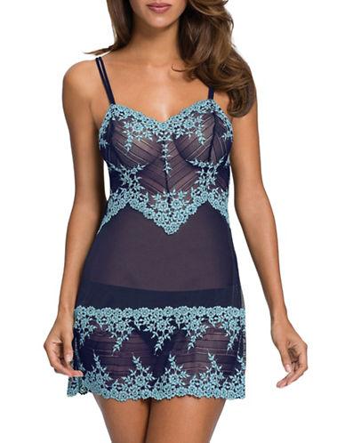 Wacoal Wacoal Embrace Lace Chemise-NAVY-X-Large plus size,  plus size fashion plus size appare