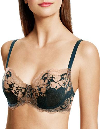 Wacoal Lace Affair Underwire Lace Bra-GREEN-38DDD plus size,  plus size fashion plus size appare