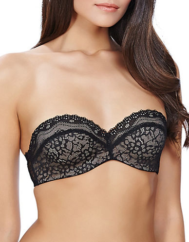 B. TemptD By Wacoal Lace Strapless Bra-BLACK-30DD