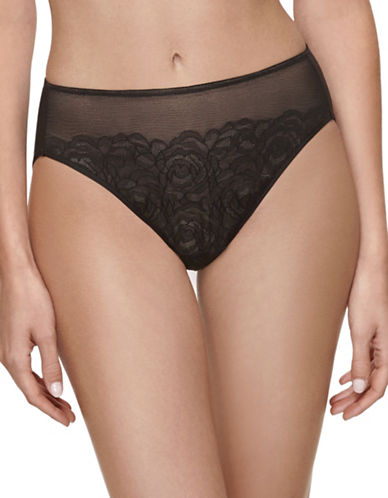 Wacoal Stark Beauty Hi-Cut Briefs-BLACK-Medium
