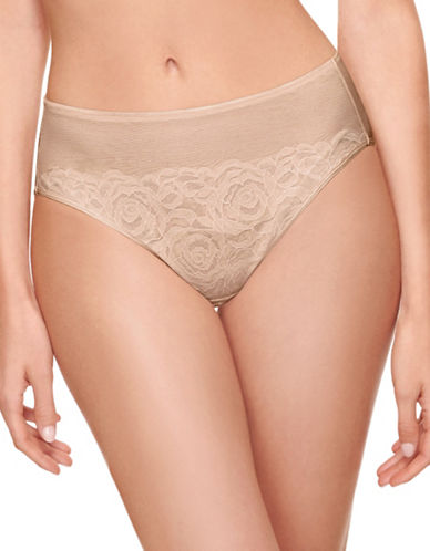 Wacoal Stark Beauty Hi-Cut Briefs-SAND-Large