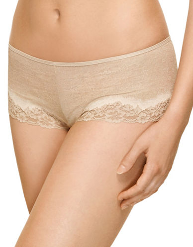 Wacoal Basic Benefits Boyshorts-SAND-Small