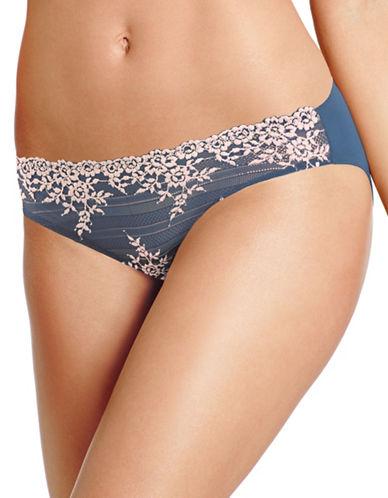 Wacoal Floral Lace Bikini Bottom-BLUE/LIGHT PINK-X-Large
