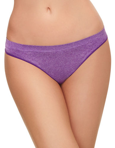 B. TemptD By Wacoal Splendid Thong-PANSY HEATHER-Small