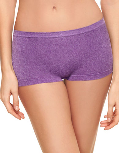 B. TemptD By Wacoal Splendid Boyshorts-PURPLE HEATHER-Large