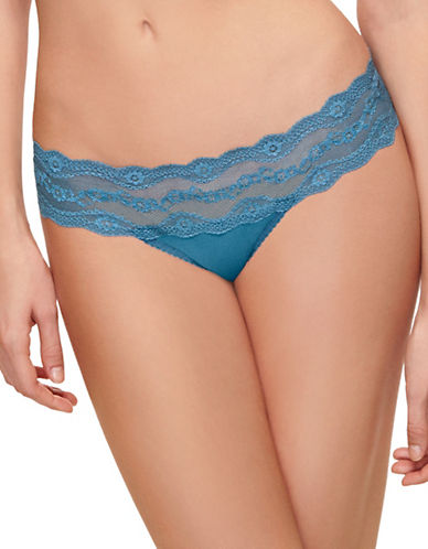 B. Tempt'D By Wacoal B Adorable Lace Bikini-Fit Briefs-BLUE ASHES-Large