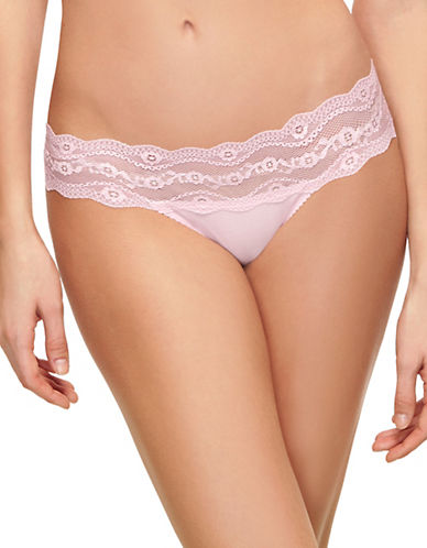 B. TemptD By Wacoal B Adorable Lace Bikini-Fit Briefs-PINK PARFAIT-Medium