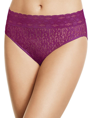 Wacoal Halo Lace Hi-Cut Briefs-PURPLE-Large