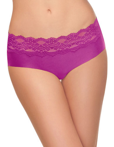 B. TemptD By Wacoal Bare Lace-Detailed Hipster Panties-PURPLE-Small