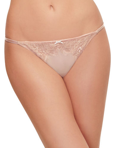 B. TemptD By Wacoal B.Sultry Chantilly Lace Thong-MAHOGANY ROSE-Medium