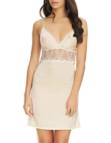 Wacoal Innocence Embroidered Chemise-BLONDE-X-Large