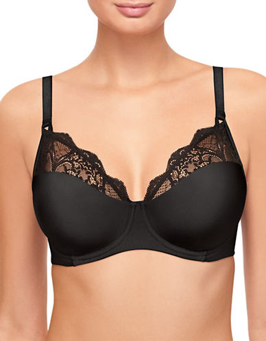 Wacoal Lace Impression Underwire Bra-BLACK-34DDD