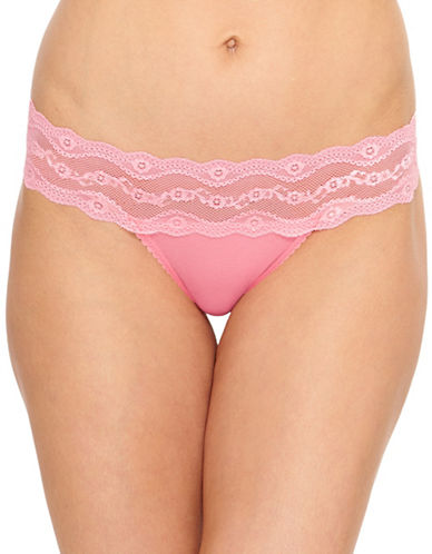 B. TemptD By Wacoal B Adorable Thong Briefs-PINK-Small