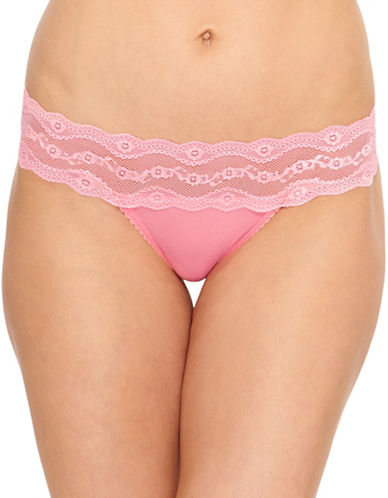B. TemptD By Wacoal B Adorable Lace Bikini-Fit Briefs-PINK-Small