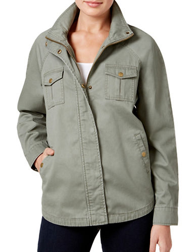 Style And Co. Embroidered Back Utility Jacket-GREEN-Small 88962153_GREEN_Small