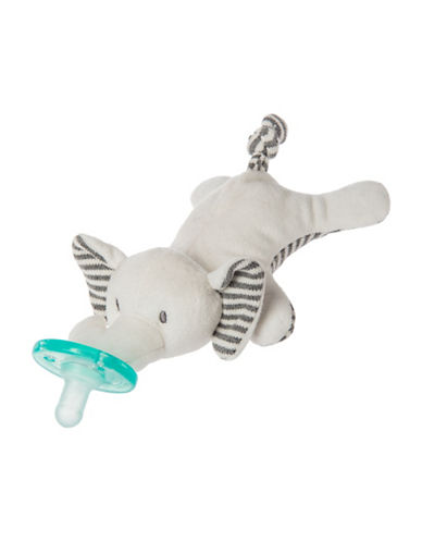 Mary Meyer 6-Inch Afrique Elephant Wubbanub Pacifier-GREY-One Size
