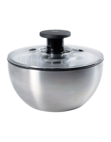 Oxo Steel Salad Spinner-SILVER-One Size