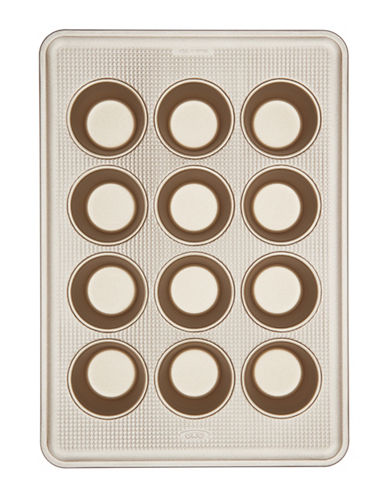 Oxo Non-Stick 12-Cup Muffin Pan-GOLD-One Size