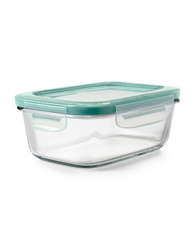 Oxo Snap 828ml Glass Container-GREEN-One Size