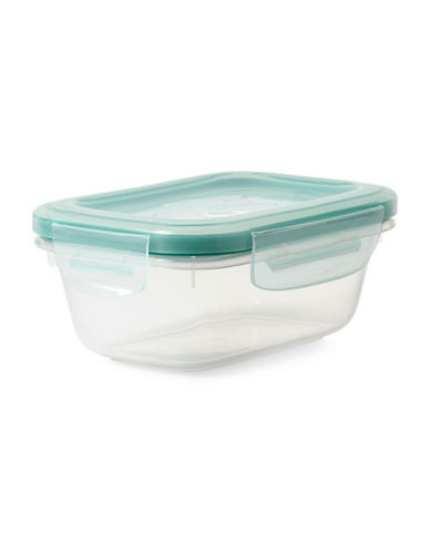 Oxo Snap Rectangular Container - 379ml-CLEAR-One Size