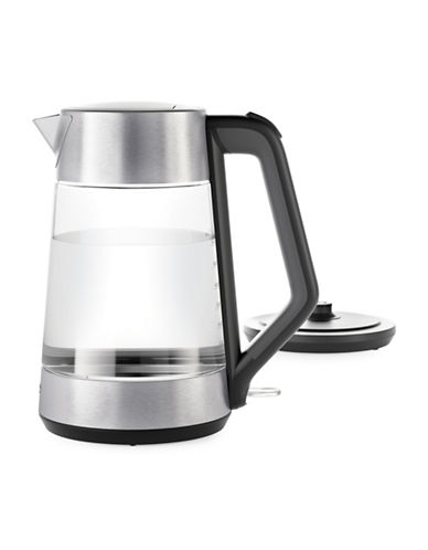 Oxo On Cordless Glass Electric Kettle-BLACK/SILVER-One Size