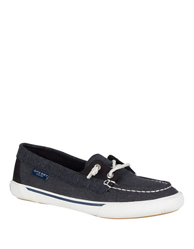 Sperry Quest Rhythm Canvas Boat Shoes-BLACK-8