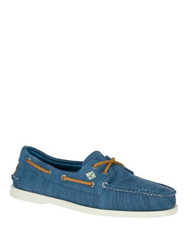 Sperry Baja Woven Loafers-NAVY-7.5