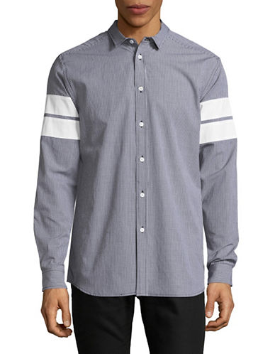 Hyden Yoo Tape Arm Detail Sports Shirt-GREY-X-Large
