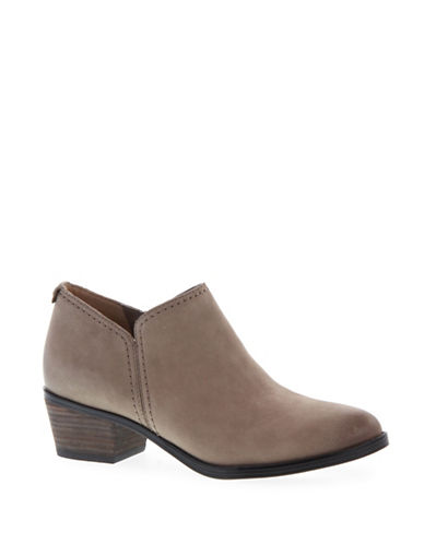 Naturalizer Zarie Nubuck Ankle Booties-TAUPE-6.5