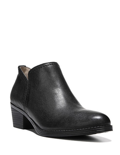 Naturalizer Zarie Leather Ankle Booties-BLACK-6.5