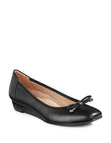 Naturalizer Dove Ballerina Wedges-BLACK-7.5