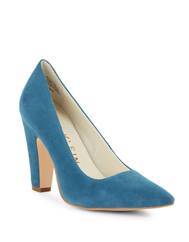 Anne Klein Hollyn Snake-Look Leather Pumps-TURQUOISE-10