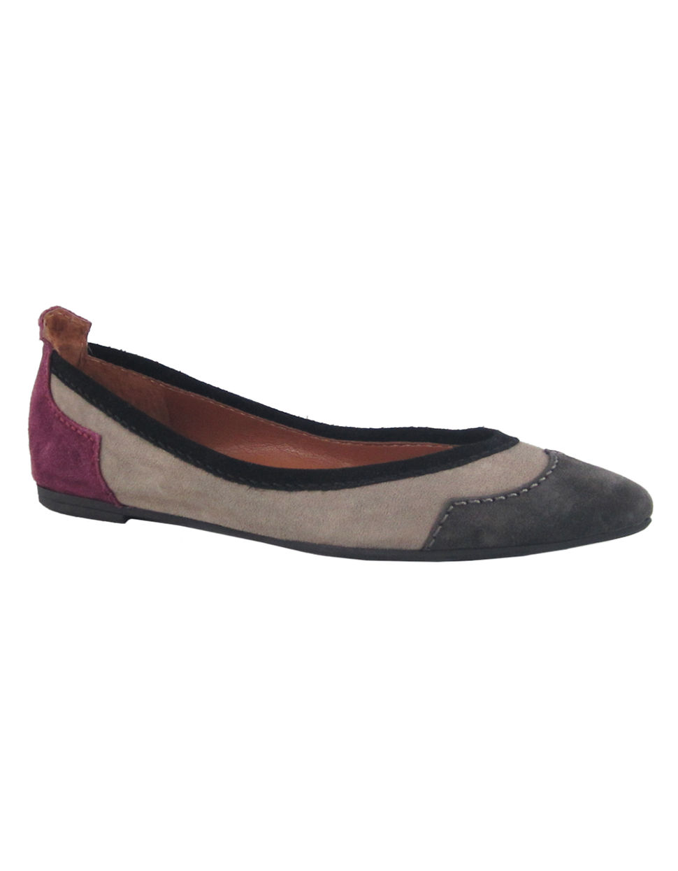 NINE WEST Soyeah Multi Coloured Western Flat taupe multi Size 9