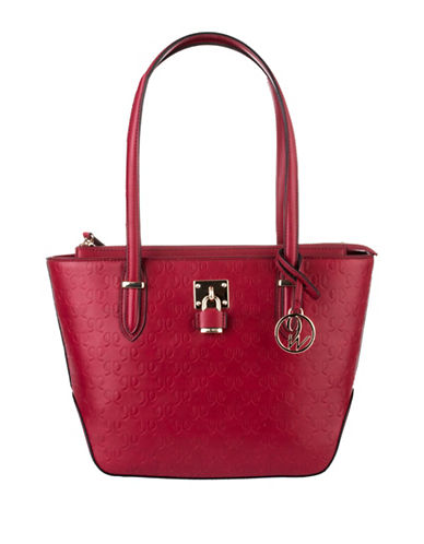Nine West Classic Logo Embossed Tote-RED-One Size