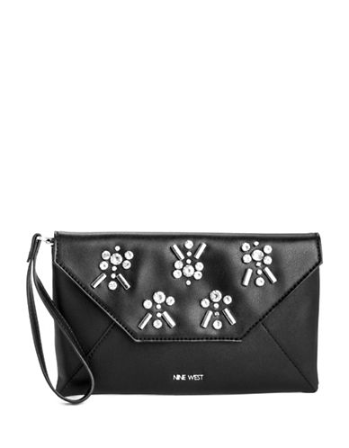 Nine West Jensan Wristlet-BLACK-One Size