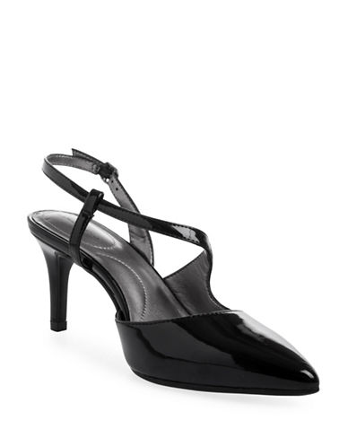 Bandolino Bando Pointed Toe Patent Heels-BLACK-7.5